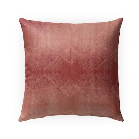 GILDA SALMON Indoor-Outdoor Pillow By Kavka Designs