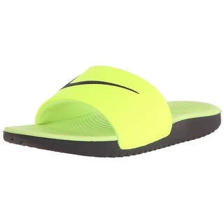 NIKE Boys' Kawa Slide Sandal (GS/PS), Volt