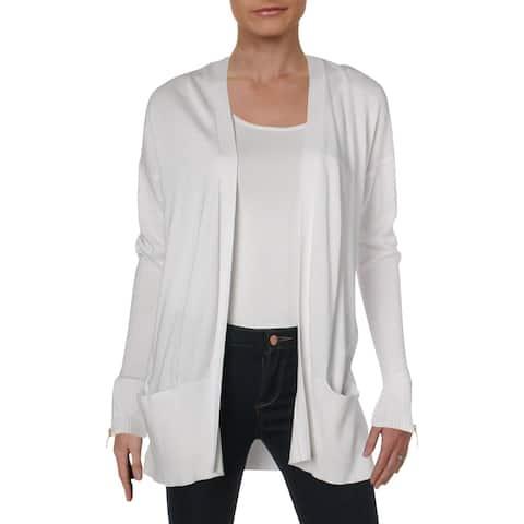 MICHAEL Michael Kors Womens Cardigan Sweater Open Front Ribbed Trim - XS
