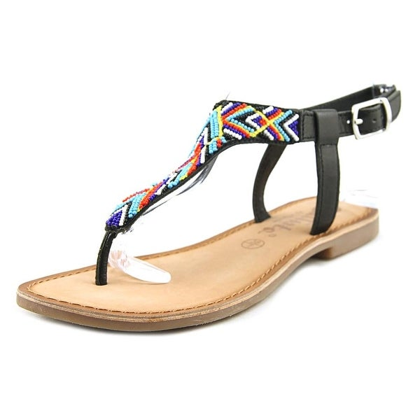 Callisto Inka Women Open-Toe Synthetic Black Slingback Sandal