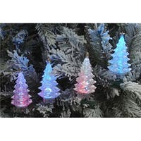 Multi-Color LED Green Wire Christmas Tree Holiday Light, Set o