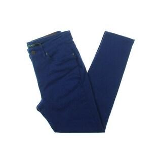 Lauren Ralph Lauren Womens Skinny Crop Jeans Denim Super Stretch