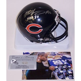 Mike Singletary Autographed Hand Signed Bears Mini Helmet - PSA/DNA