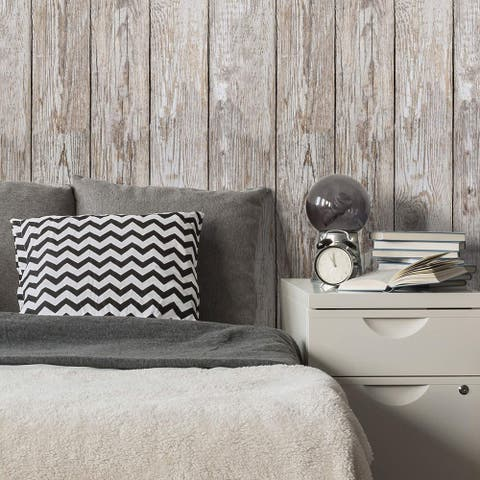 Brown Wood Peel and Stick Removable Wallpaper 9016