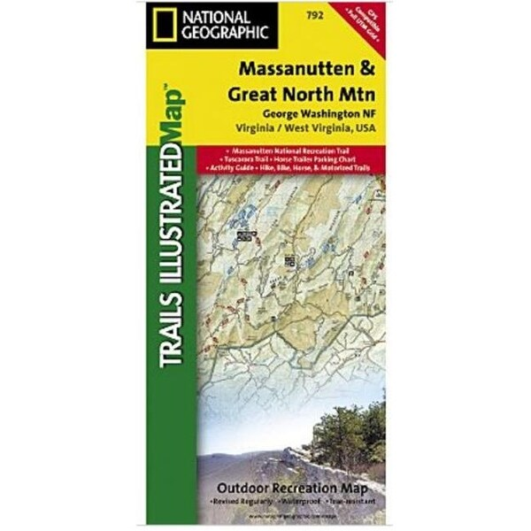 Shop Map Of Massanutten Great Northern Mountains Virginia Free