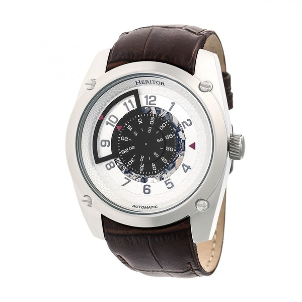 7f20d555a Heritor Daniels Men's Automatic Watch, Genuine Leather Band, Sapphire-
