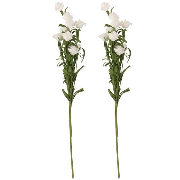 Home Foam Rose DIY Craft Emulational Artificial Flower Bouquet Decor White 2pcs