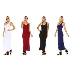 Isaac Liev Sleeveless Racerback Long Casual Maxi Dress
