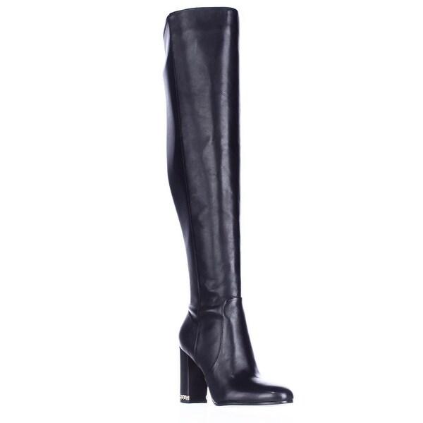 MICHAEL Michael Kors Sabrina Over The Knee Chain Heel Boots, Black