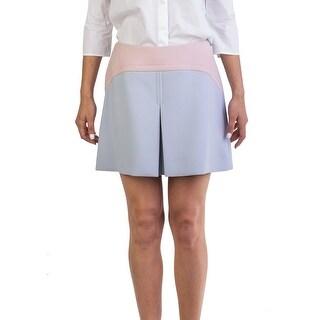 Miu Miu Women's Virgin Wool Vamp Skirt Two Tone - 42