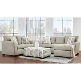 Link to Addy Beige 3pc. Chofa, Loveseat, & Ottoman Set Similar Items in Living Room Furniture Sets