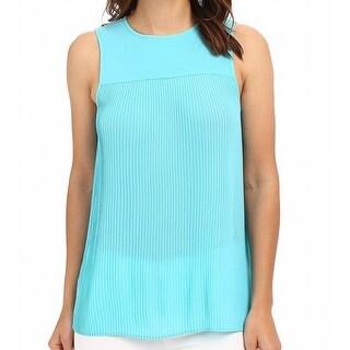 Michael Kors NEW Blue Turquoise Pleated Women's Medium M Tank Cami Top