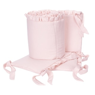 Link to Lambs & Ivy Floral Garden Pink Linen Blend 4-Piece Baby Crib Bumper Pads Similar Items in Bumper Pads