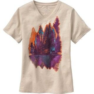 Legendary Whitetails Ladies Painted Forest V-Neck T-Shirt