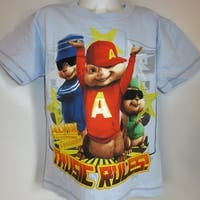 Alvin And The Chipmunks Music Rules Kids Medium M (5-6) Blue Shirt