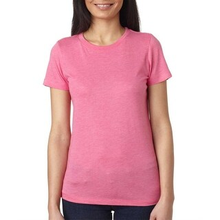 Next Level Ladies Tri-Blend Crew - Vintage Pink - Small