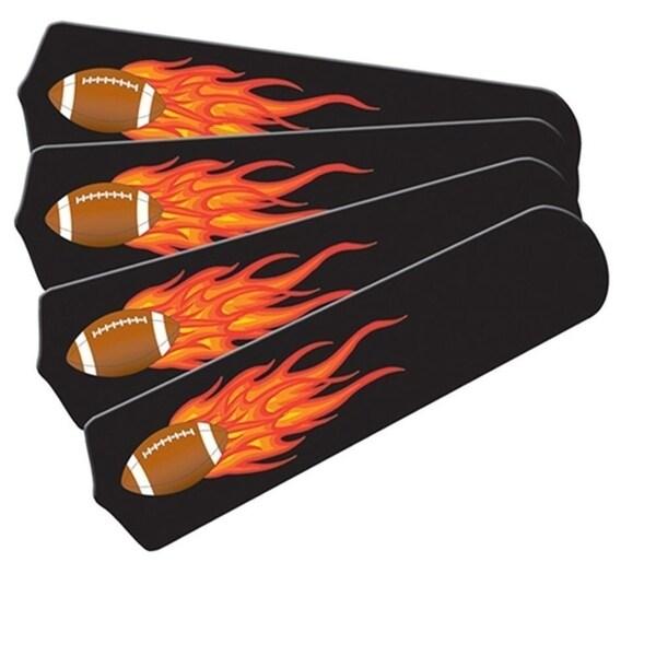Flaming Football Graphics Custom Designer 42in Ceiling Fan Blades Set - Multi