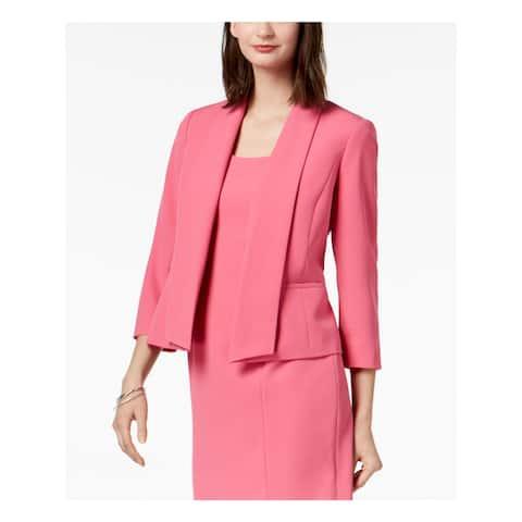 KASPER Womens Pink Shawl Collar Blazer Jacket Size 6