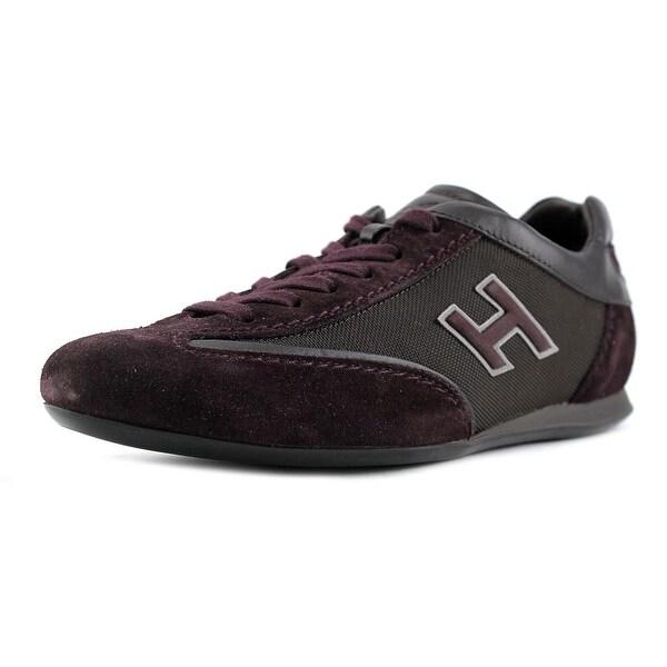 Hogan INTERACTIVE H-STRASS BICOLORE Women Suede Gray Fashion Sneakers