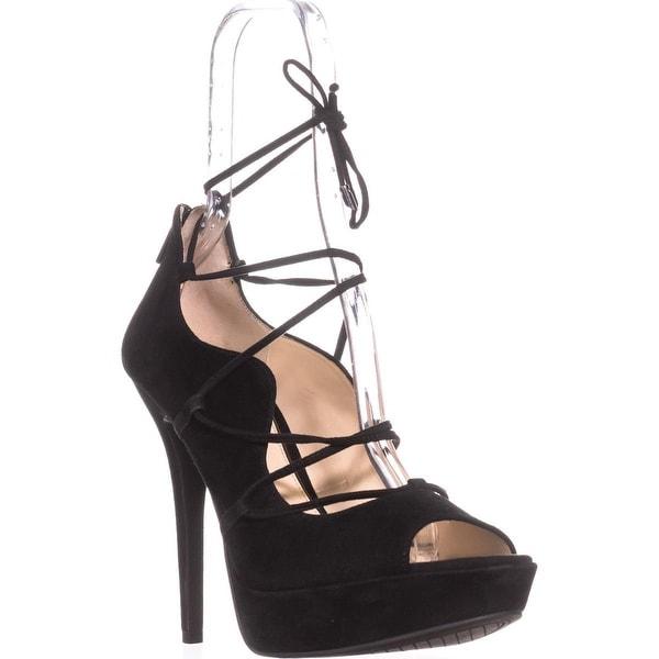 Jessica Simpson Baylinn Lace-Up Platform Pumps, Black