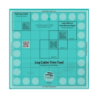 "Link to Creative Grids Pineapple Trim Tool for 6, 8 or 10in Finished Blocks - 0.25"" x 10"" x 10"" Similar Items in Sewing & Quilting"