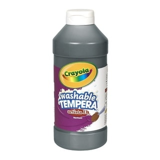 Crayola Artista II Non-Toxic Washable Tempera Paint, 1 pt Squeeze Bottle, Black