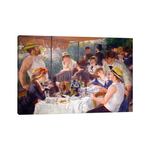 """iCanvas """"The Luncheon of the Boating Party 1881"""" by Pierre-Auguste Renoir Canvas Print"""
