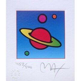 """Cosmic Saturn, Ltd Ed Litho (Mini 3.5"""" x 3""""), Peter Max"""