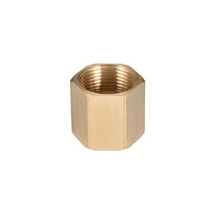 "Brass Pipe Fitting,3/4"" G Female Thread Straight Brass Hex Rod Pipe Fitting - 3/4"" G Female"