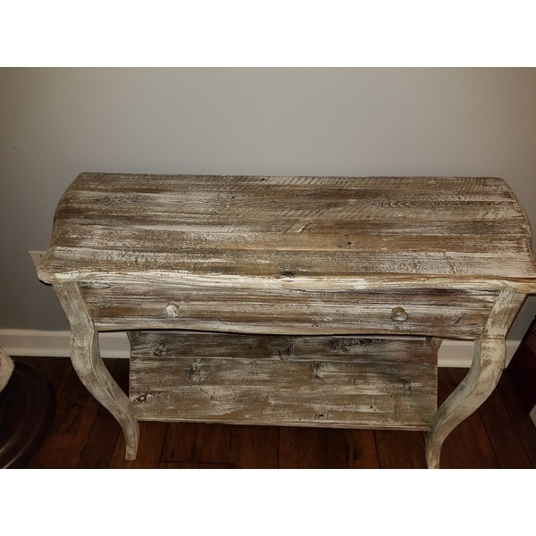 Shop Alaterre Rustic Reclaimed Wood Sofa/ Console Table   On Sale   Free  Shipping Today   Overstock.com   10206424