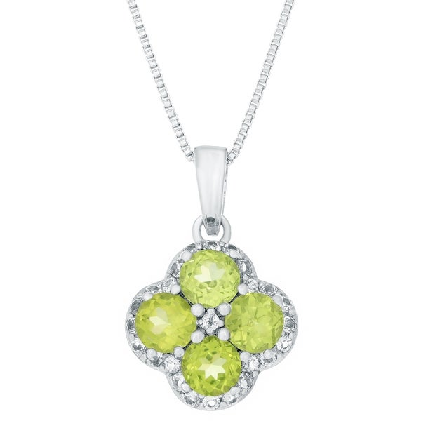 Sterling Silver Birthstone Flower Pendant Necklace. Opens flyout.