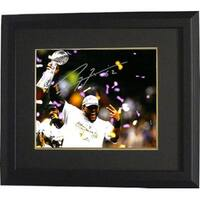 Ray Lewis signed Baltimore Ravens 8x10 Photo Custom Framed SB XLVII Trophy Celebration