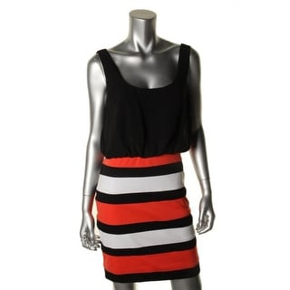 XOXO Womens Juniors Chiffon Striped Casual Dress - XL