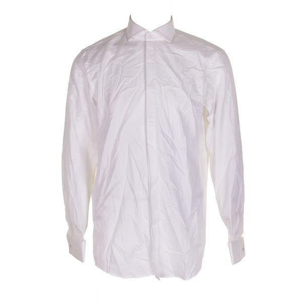 e584433d8 Shop Hugo Boss Classic White Collared Cuffed Button Down Shirt 34-35 ...