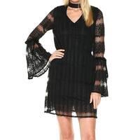 Laundry by Shelli Segal Black Women's Size 6 Lace Choker Dress