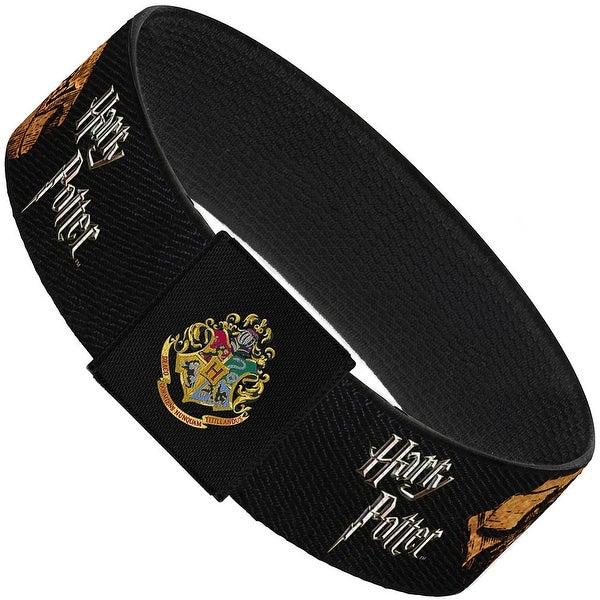 "Harry Potter Mischief Managed Banner Elastic Bracelet 1.0"" Wide"