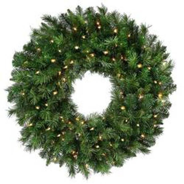 "- New Zealand Pine Wreath 24"" 170 Tips"