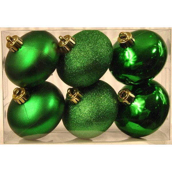 Christmas at Winterland WL-ONION-S-6PK-GR 6 Green Smooth Onion Ornaments - N/A
