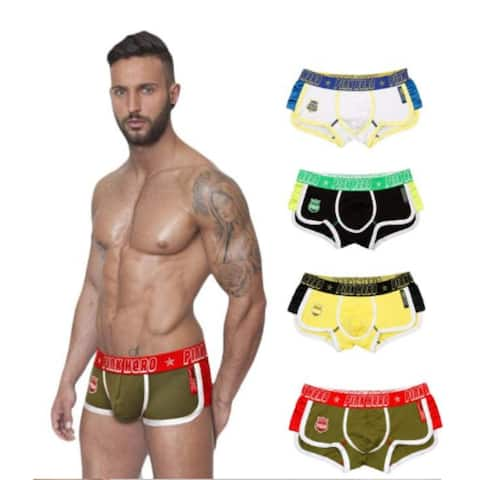 4Pcs Sexy Men's Underpants Cotton Knickers Boxer Shorts Comfortable Underwear Pant
