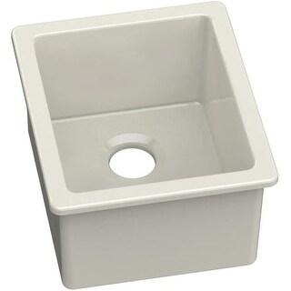 """Elkay SWU1517 Explore 16"""" x 19"""" Fine Fireclay Single Bowl Undermount Bar Sink"""