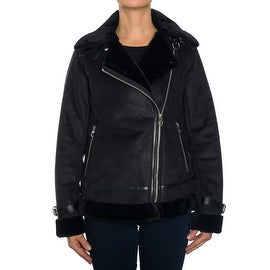Laundry by Shelli Segal Faux Suede/Faux Fur Moto Jacket