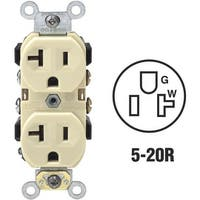 Leviton 20A Ivory Outlet