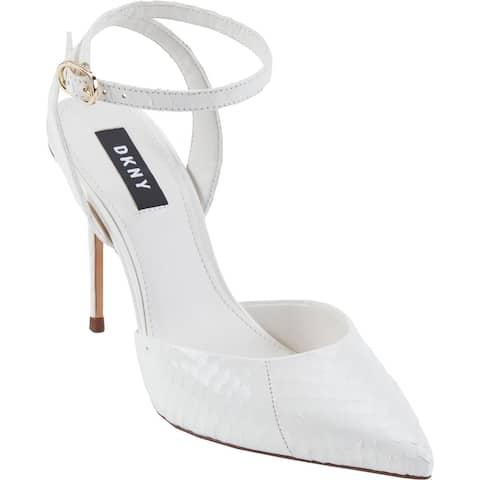 DKNY Womens Jax Pointed Toe Heels Leather Closed Toe