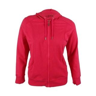 Style & Co. Women's Zip Front Hooded Jacket - l