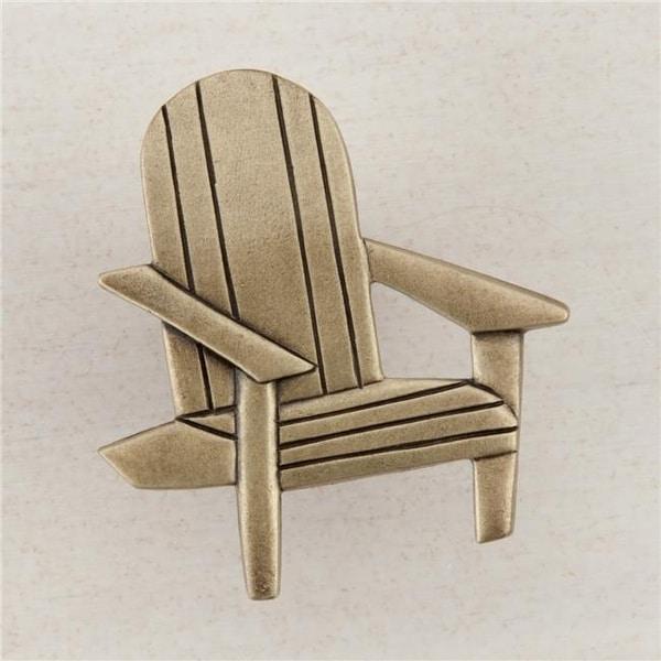 Artisan Collection Beach Chair Knob, Antique Brass - Shop Artisan Collection Beach Chair Knob, Antique Brass - Free