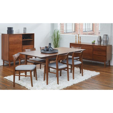Rye Studio Buralda Walnut Open Back Dining Chairs (Set of 2)