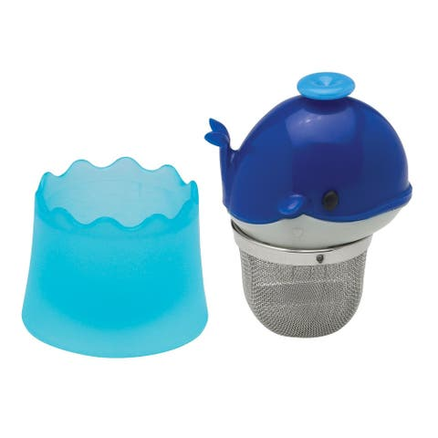 HIC Floating Whale Shaped Loose Leaf Tea Infuser and Drip Catcher