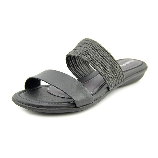 Hush Puppies Nishi Slide Open Toe Leather Slides Sandal