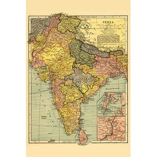 India - (1903) - Panoramic Map (Playing Card Deck - 52 Card Poker Size with Jokers)