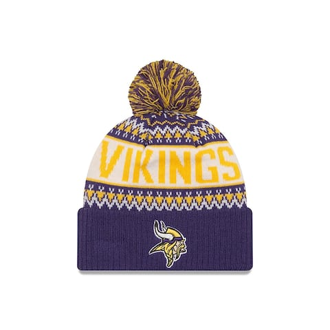 Minnesota Vikings Wintry Pom Knit Beanie